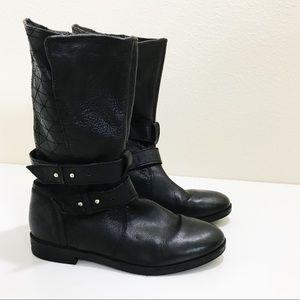 """Steve Madden """"Kristenn"""" Leather Moto Boots 7.5"""